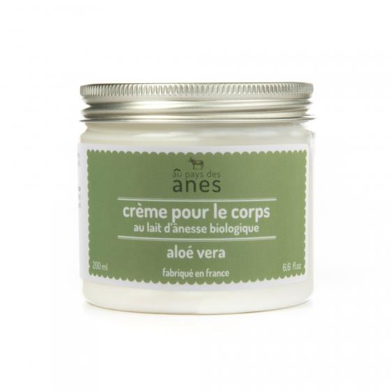 Crème corps au lait d'ânesse biologique Aloe Vera 200 ml