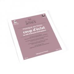 Masque en tissu au lait d'ânesse biologique Coup d'éclat 20 ml