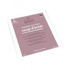 Masque en tissu au lait d\'ânesse biologique Coup d\'éclat 20 ml