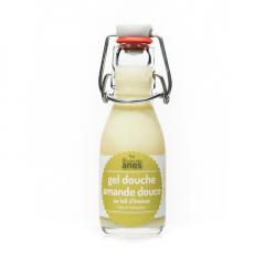Gel douche limonade au lait d'ânesse frais et biologique Amande Douce 100 ml