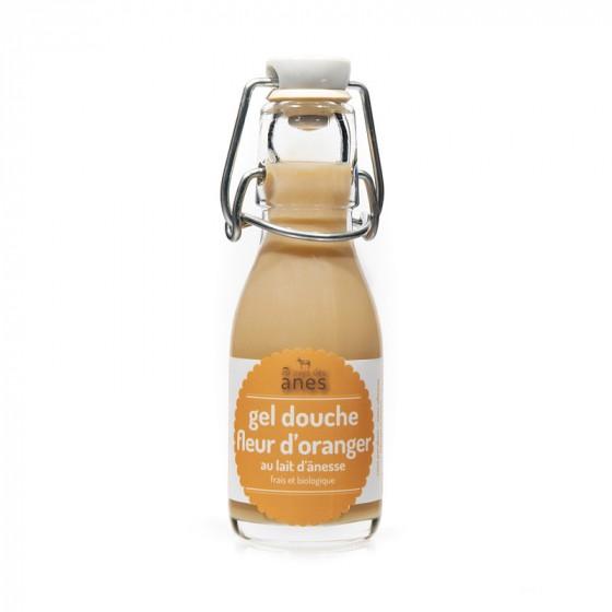 Gel douche limonade au lait d'ânesse frais et biologique Fleur d'Oranger 100 ml