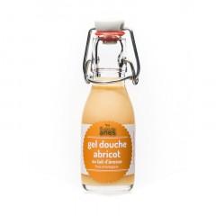 Gel douche limonade au lait d'ânesse frais et biologique Abricot 100 ml