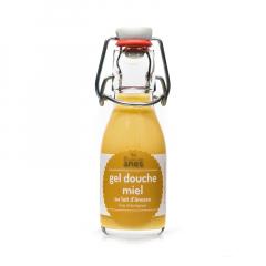 Gel douche limonade au lait d'ânesse frais et biologique Miel 100 ml