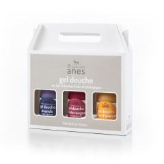 Coffret gels douche limonade Lavande - Fruits Rouges - Fleur d'Oranger