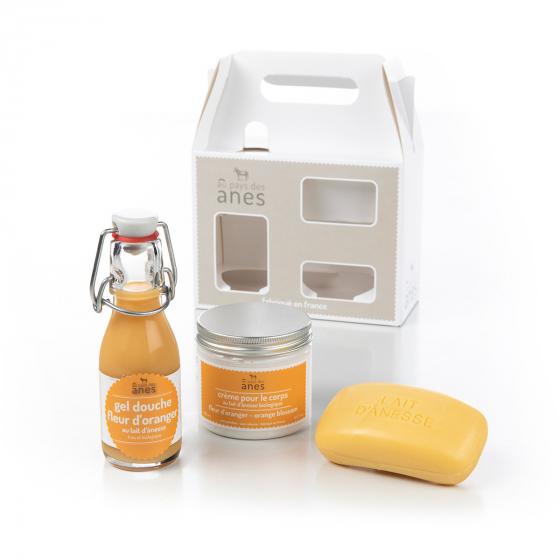 Coffret Découverte Gel douche - Savon - Crème corps Fleur d'Oranger