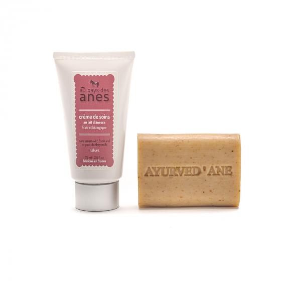 Pack soin : savon ayurved'âne et crème de soin 75ml