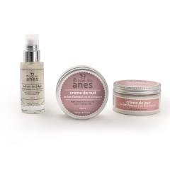 Pack routine visage : crème de jour et crème de nuit pot, sérum anti-âge
